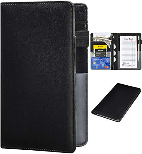 Server Books for Waitress - Leather Waiter Book Server Wallet with Zipper...