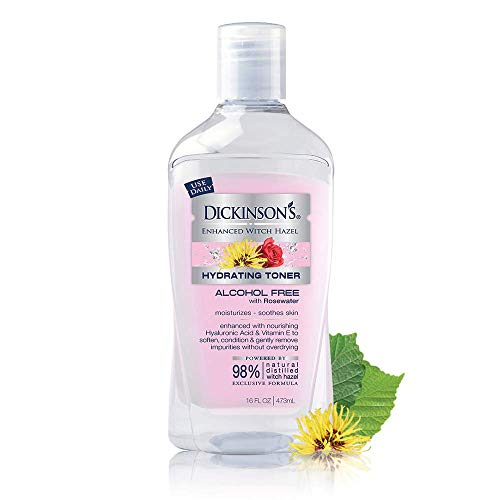 Dickinson's Enhanced Witch Hazel Hydrating Toner with Rosewater, Alcohol...