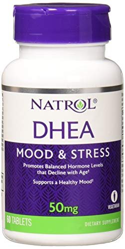 Natrol DHEA 50mg, 60 Tablets (Pack of 3)
