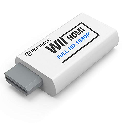 PORTHOLIC Wii to HDMI Converter 1080P for Full HD Device, Wii HDMI Adapter...