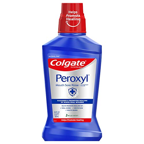 Colgate Peroxyl Antiseptic Mouthwash and Mouth Sore Rinse, 1.5% Hydrogen...