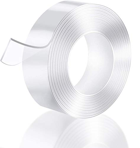 Double Sided Tape for Walls(17FT) - Multipurpose Removable Mounting...