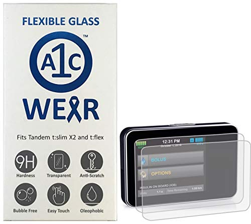 A1C WEAR - 9H Flexible Glass Screen Protector Compatible with Tandem tSlim...