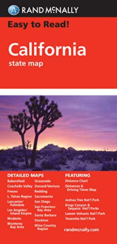 Easy To Read: California State Map (Rand McNally Easy to Read!)