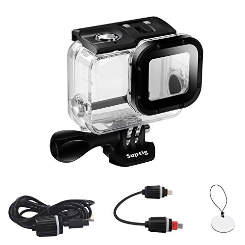 Suptig Replacement Waterproof Case Protective Housing Compatible for GoPro...