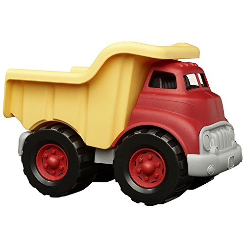 Green Toys Dump Truck in Yellow and Red - BPA Free, Phthalates Free Play...