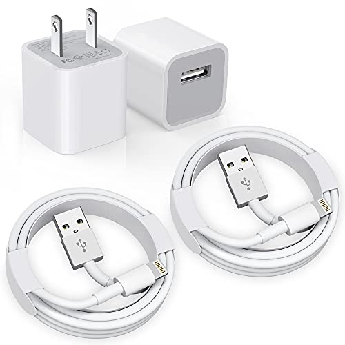 iPhone Charger, [Apple MFi Certified] 2Pack Apple iPhone Charger to USB...