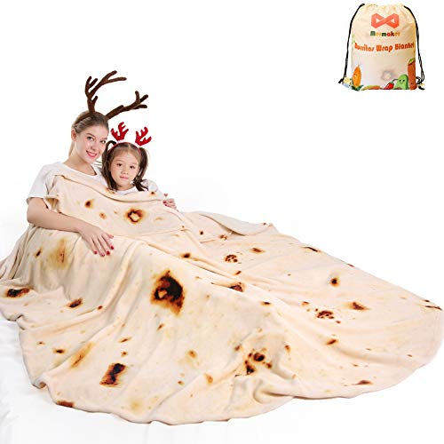 mermaker Burritos Tortilla Blanket 2.0 Double Sided 71 inches for Adult and...