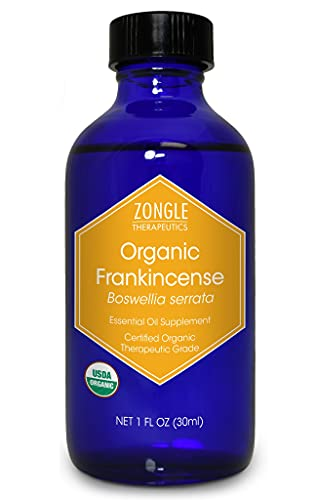 Zongle USDA Certified Organic Frankincense Essential Oil, Safe to Ingest,...