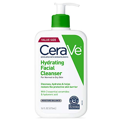 CeraVe Hydrating Facial Cleanser | Moisturizing Non-Foaming Face Wash with...