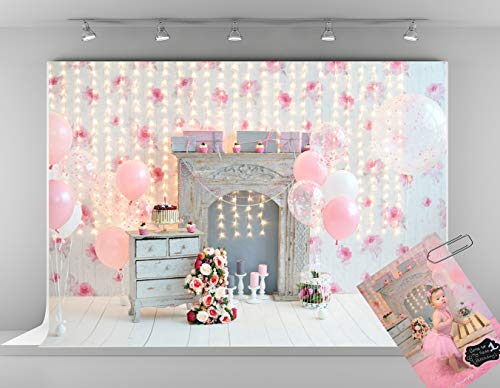 Kate 7x5ft Happy Birthday Background for Photography 1st Flowers Birthday...