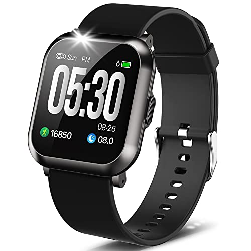 """DoSmarter Fitness Watch, 1.3"""" Touch Screen Smartwatch with Heart Rate..."""