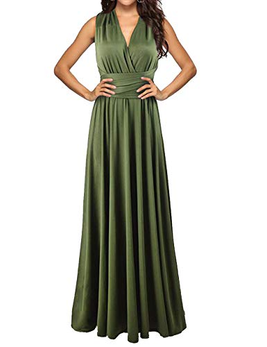Sexyshine Women's Backless Gown Dress Multi-Way Wrap Halter Cocktail Dress...
