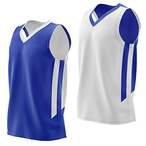 Liberty Imports Reversible Men's Mesh Athletic Basketball Jersey Single for...