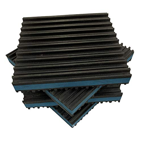 HEAVY DUTY ANTI VIBRATION ISOLATION PADS 6' X 6' X 7/8' RIBBED RUBBER WITH...