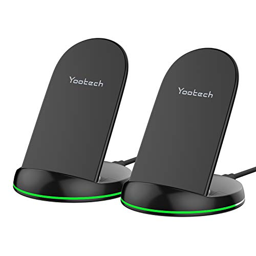 Yootech [2 Pack] Wireless Charger Qi-Certified 10W Max Wireless Charging...