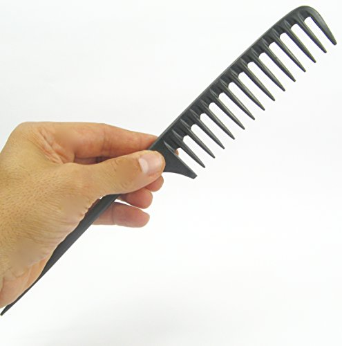 Tearsheet Carbon Wide Tooth Rake Comb with Tail - Beach waves, Beach waver,...
