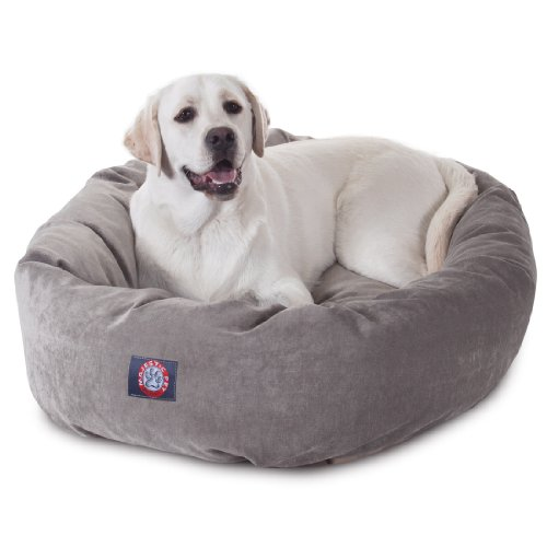 40 inch Vintage Villa Collection Micro Velvet Bagel Dog Bed By Majestic Pet...