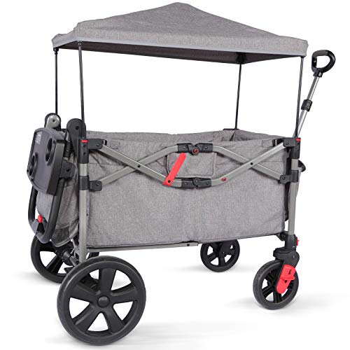 EVER ADVANCED Foldable Wagon for Two Kids & Cargo, Collapsible Folding...