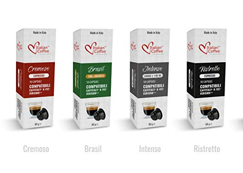 Italian Coffee capsules compatible with Starbucks Verismo, CBTL, Caffitaly,...