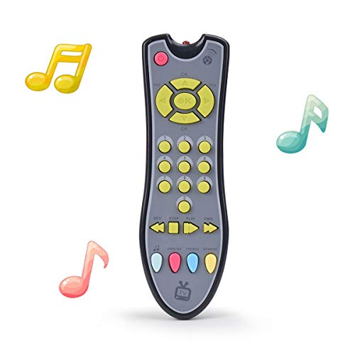 TuiVeSafu Kids Musical TV Remote Control Toy with Light and Sound, Early...