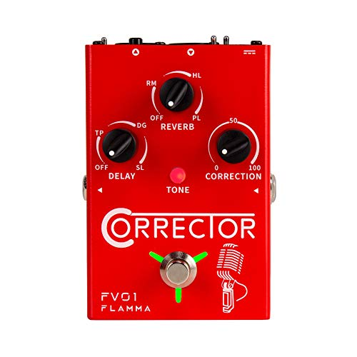 FLAMMA FV01 Vocal Pitch Correction Pedal Vocal Effects Processor with Delay...