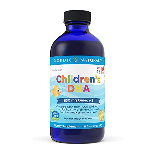 Nordic Naturals Children's DHA, Strawberry - 8 oz - 530 mg Omega-3 with...