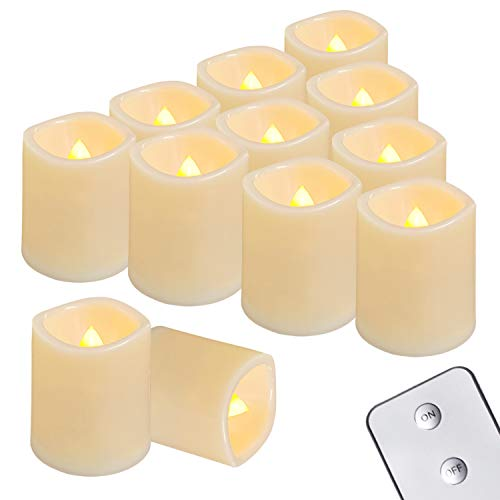 Homemory Flameless Votive Candles with Remote, 12PCS Flickering Battery...