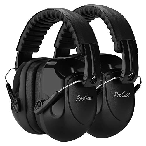 ProCase Noise Reduction Ear Muffs 2 Pack, NRR 28dB Hearing Ear Protection...
