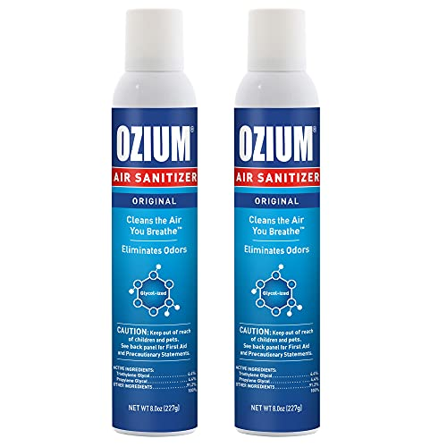 Ozium 8 Oz. Air Sanitizer & Odor Eliminator for Homes, Cars, Offices and...