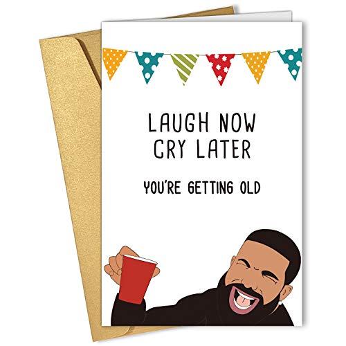 Laugh Now Cry Later Birthday Card, Funny Happy Birthday Card, Bday Card for...