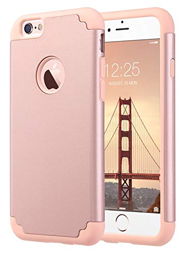 ULAK iPhone 6S Case, iPhone 6 Case, Slim Fit Dual Layer Soft Silicone &...