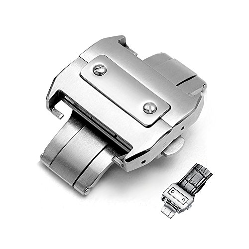 18mm Stainless Deployment Buckle Metal Clasp Watch Band Accessorie Steel...