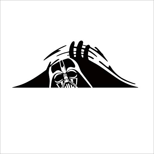 Funny Car Decal - Peeking Monster - Scary Eyes - Darth Vader - Sticker for...