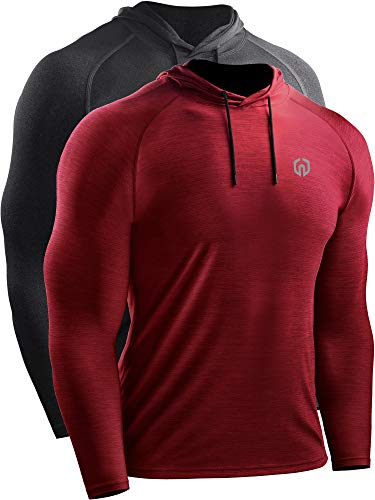 Neleus Men's 2 Pack Dry Fit Running Shirt Long Sleeve Workout Athletic...