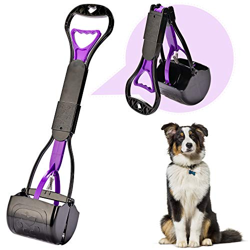 Yeuca Pet Pooper Scooper for Dogs Non-Breakable Folded with Long Handle...