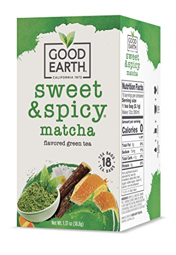 Good Earth Green Tea, Sweet and Spicy, Matcha Maker, 18 Count, Pack of 6