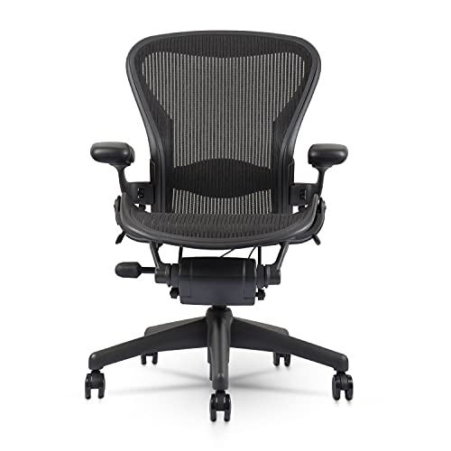 Herman Miller Classic Aeron Chair - Fully Adjustable, Carpet Casters, Size...