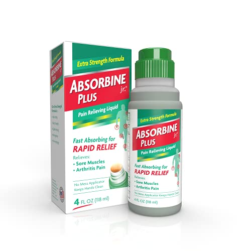 Absorbine Jr. Pain Relieving Liquid with Menthol - for Sore Muscles, Joint...
