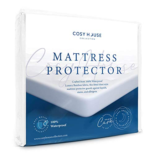 Cosy House Collection Queen Size Luxury Bamboo Mattress Protector - 100%...