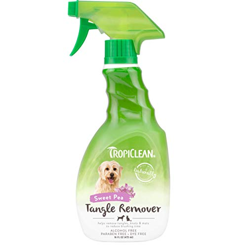 TropiClean Sweet Pea Tangle Remover Spray for Pets, 16oz - Made in USA -...