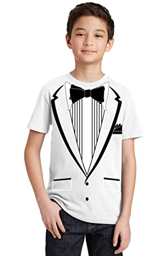 Promotion & Beyond Tuxedo (Black) with Pocket Square Ceremony Youth...