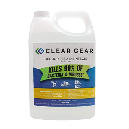 Clear Gear Disinfecting Spray 1 Gallon Bottle - Kills Odors and Leaves a...