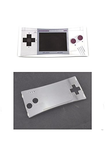 Faceplate Label Sticker + Plastic Clear Panel for Gameboy Micro GBM...
