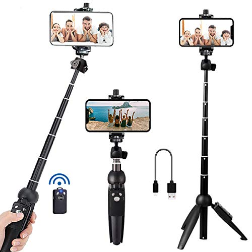 Portable 40 Inch Aluminum Alloy Selfie Stick Phone Tripod with Wireless...