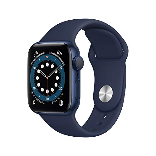 AppleWatch Series 6 (GPS, 40mm) - Blue Aluminum Case with Deep Navy Sport...