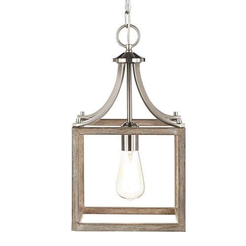 Home Decorators Collection Boswell Quarter Collection 1-Light Brushed...