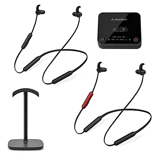 Avantree HT41866 Wireless Earbuds for TV Watching (Set of 2) with Bluetooth...