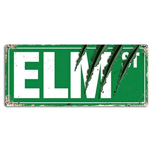 Lilyanaen New Metal Sign Aluminum Sign Elm Street Claws Wall Sign for...