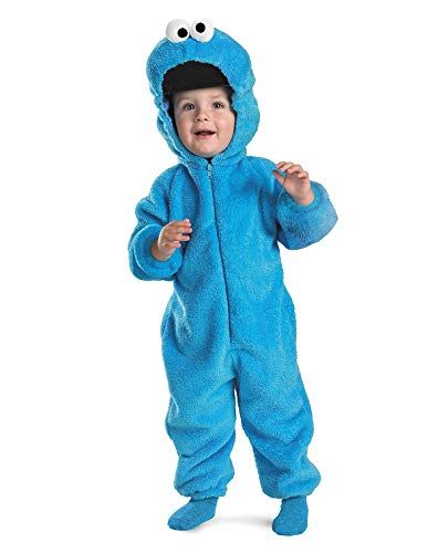 Disguise Cookie Monster Deluxe Two-Sided Plush Jumpsuit Costume - Small...